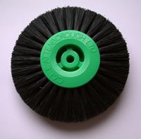 3 Row 73mm Black Bristle Lathe Brush