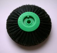 4 Row 82mm Black Bristle Lathe Brush